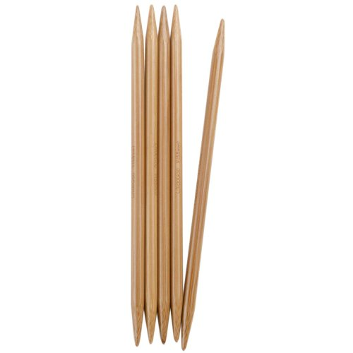 ChiaoGoo Double Point 6-inch (15cm) Bamboo Dark Patina Knitting Needle; Size US 8 (5mm) 1036-8