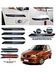 BUY HAPPYAMMY SHOP Bumper Protector Guard Double Chrome Strip 4PCS Black (for Maruti Suzuki Alto K10)