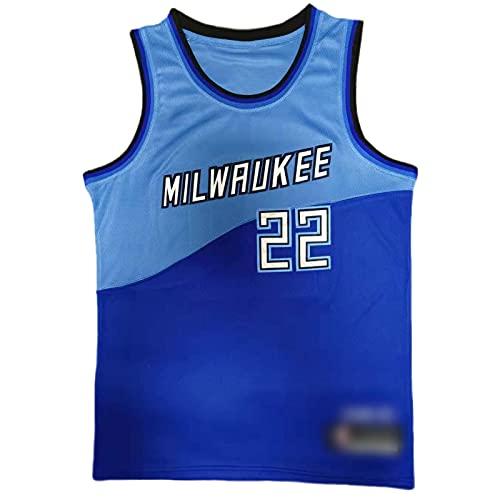 Blue Fan Jersey Middleton # 22, atmungsaktive Stickbasketballuniform, Mesh Retro Sleeveless T-Shirt, Unisex Hip-Hop Sweatshirt (S-XXL) Blue-M