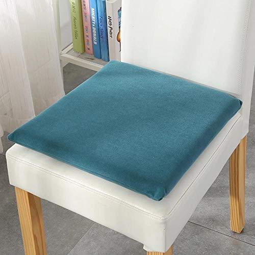 Cojín de espuma viscoelástica portátil de colores sólidos WATCBQ para silla de comedor de cocina, para jardín al aire libre, oficina, sala de estar, azul marino, aproximadamente 38 x 38 cm, 6 unidades
