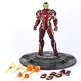XXBH Marvel The Avengers Iron Man Mark 46 Toys Modelo Super Hero 6 Pulgadas de Alto Las Figuras de acción Juego niños (Size : C)