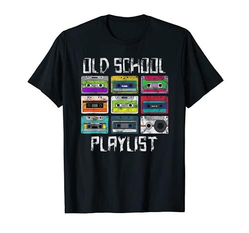 Cassette Tape Music Camiseta Retro 80s Old School Playlist Camiseta