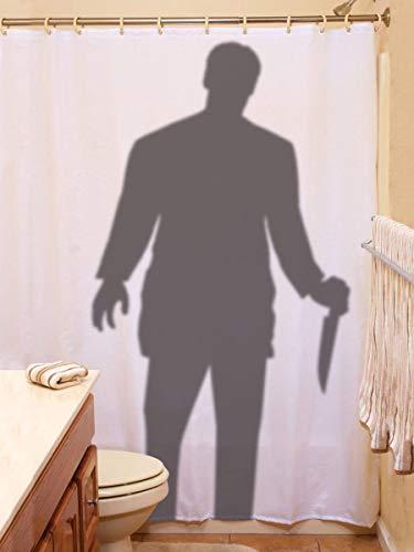 Unbekannt Scary Stalker Vorhang Prop 177,8x 182,9cm Halloween Dekoration
