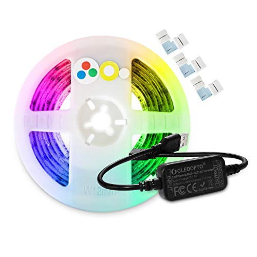 GLEDOPTO Smart ZigBee TV USB Led Strip Lights Kit DC5V Mini LED Strip Controller with 2meters RGBCCT Strip Lights Compatible with Hue Amazon Echo Plus SmartThings, APP/ Voice Control