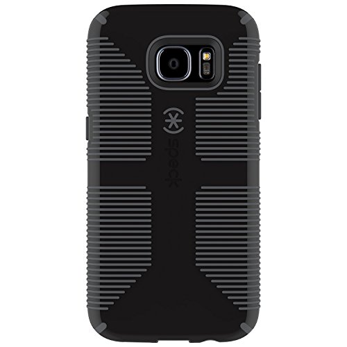 Speck Products Samsung Galaxy S7 Edge Case, CandyShell Grip Case (Black/Slate Grey), Military-Grade Protective Case