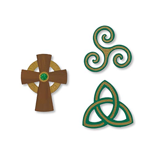 Roeda Brighten Your Life 14003g Irish Assorted Celtic Symbol Set of 3 Magnets St. Patrick Day