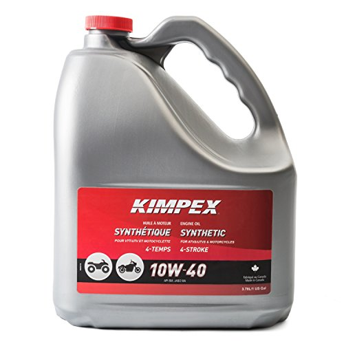 Kimpex Synthetic Engine Oil Lubricant 10W40 4 Stroke 1 Gallon ATV, Motorcycle 260621