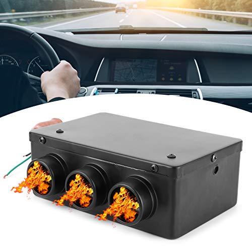 Desempañador de coche, calentador de coche de 12 v, calentador de coche de 3 orificios de 12 V para mejorar la temperatura del coche para pies calientes del coche eliminar escarcha y niebla