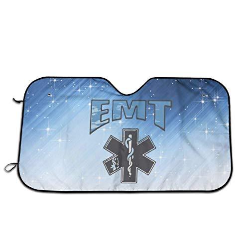 Tridge EMT Rettungssanitäter Auto Windschutzscheibe Sonnenschutz UV-Schutz Doppelblasenfolie Jumbo Faltbarer Sonnenschutz 130X70Cm