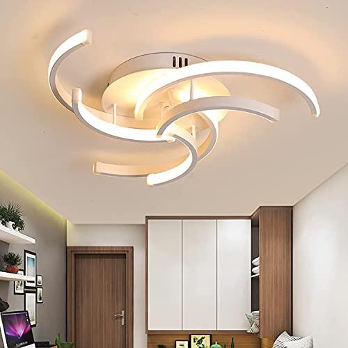 Lámpara de techo moderna para dormitorio, regulable con mando a distancia, luz de techo LED, para sala de estar, comedor, cocina, salón, iluminación de techo, 40 cm (tamaño 50 cm)