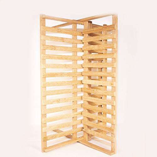 Escorredor De Pratos E Louças Abre E Fecha Em Bambu
