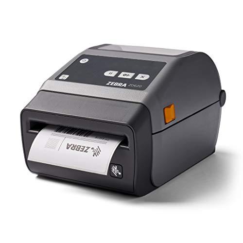 Zebra ZD620d Direct Thermal Desktop Printer 203 dpi Print Width 4 in Ethernet Serial USB Cutter Preinstalled ZD62042-D21F00EZ