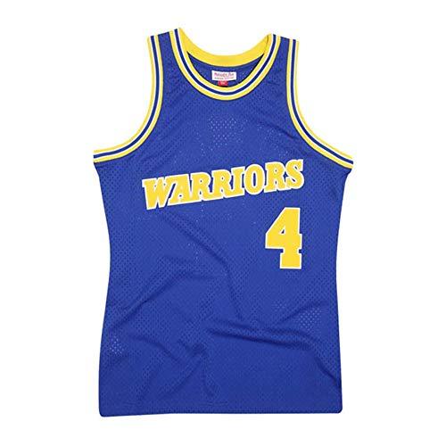 Camiseta Baloncesto Pantalones Cortos De Jersey NBA Chris Webber Masculino # 4, Transpirable Resistente Al Desgaste Bordó La Camiseta De La Camiseta +, XS-XXL, FHI073IHF (Color : Blue, Size : XXL)
