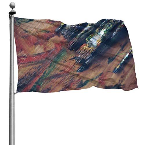 ZHANGhome Fahnendruck Kunst Kunstzubehör Künstler Blau Pinsel Farbe Kreative Party Fahnendekorationen Benutzerdefiniertes Dekor Gartenflaggen 120 x 180 cm Polyester mit Ösen Dekorationen Innen/Außen