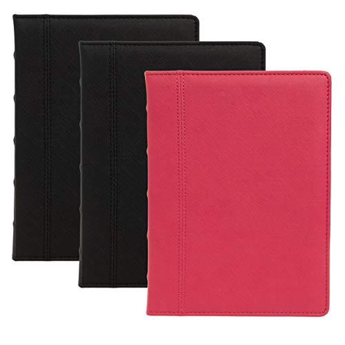 """C.R. Gibson (Set of 3) Jumbo Leatherette Journal for Women, Journal for Men: 400pg Large Writing Journal, Ruled Journal, 7.3"""" x 9.6"""""""