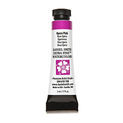 DANIEL SMITH 284610198 Extra Fine Watercolors Tube, 5ml, Opera Pink