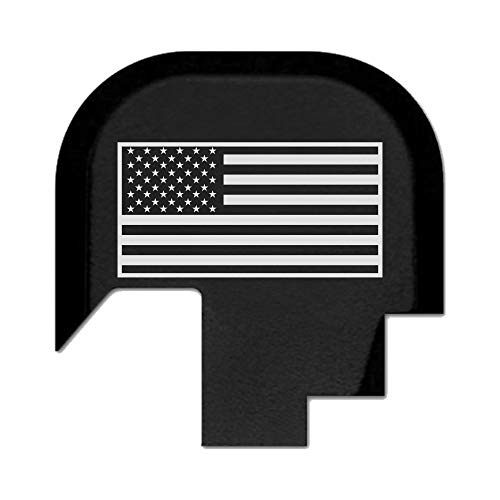 BASTION Laser Engraved Rear Butt Cover Back Plate for Smith & Wesson M&P 9/40 Shield SUBCOMPACT ONLY - USA Flag