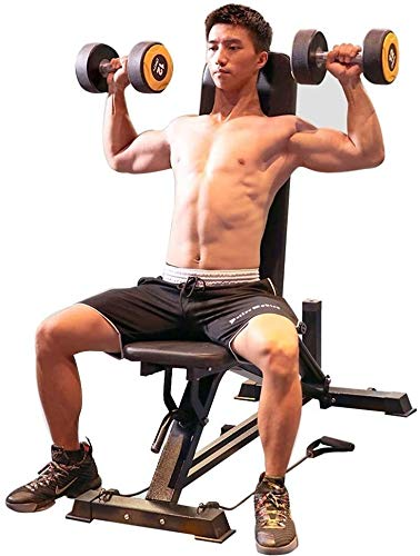 Byakns Hogar o Comercial Pierna Músculo Fitness Equipo profesional Profesional Banco Dumbbell Banco Pense Bench Fitness Equipo Gimnasio Calidad Fuerza Equipo de entrenamiento, Tamaño: 124x31x43cm, Col