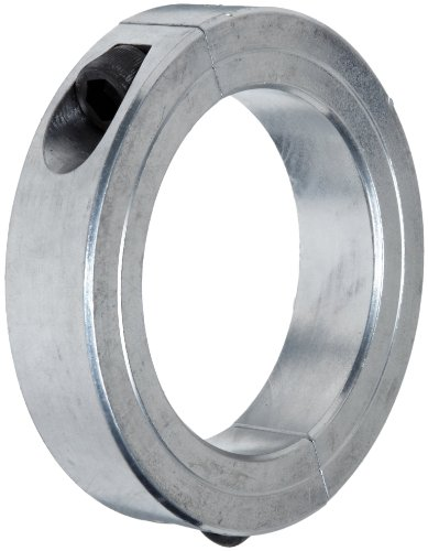 "Climax Metal 2C-131-A Aluminum Two-Piece Clamping Collar, 1-5/16"" Bore Size, 2-1/4"" OD, With 1/4-28 x 3/4 Set Screw"
