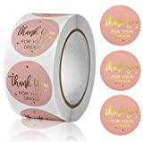 1' Thank You for Your Order Stickers,500pcs Thank You Stickers Roll,Thank You Sticker for Business,Online Retail,Boutique|Round Thanks You Business Stickers for Bubble mailers,Bubble envelopes