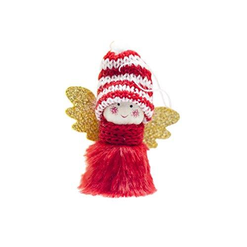 HLIYY Mini Peluche Mignonne Ange Fille noël Pendentifs d'arbre Décoration d'intérieur Kit de Décorations Personnages de Noël avec Sequins Loisirs Créatifs et Décorations de Noël pour Enfants