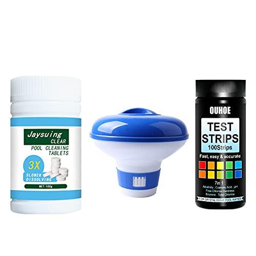 Zwembad Reiniging Chloor Tablet bruisende Tablet pH Test Papier Set Multifunctionele Reiniging Tablet Set