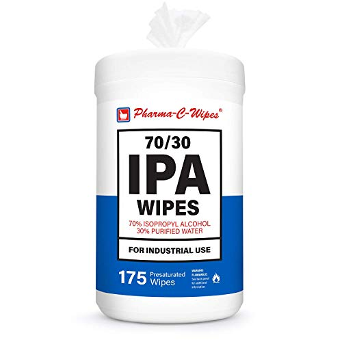 Pharma-C 70% Isopropyl Alcohol Wipes (70/30 IPA) 175 Wipes per Canister *Made in The USA*