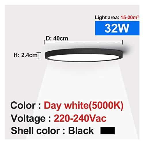 Moderno, Luz de techo LED Shell Negro 12W 18W 24W 32W 4000K Lámpara moderna de techo de superficie para lámparas de baño de dormitorio de cocina para sala de estar, dormitorio, pasillo y más
