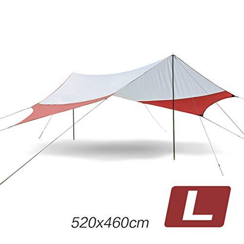 Bdclr Toit D'Ombrage Hexagonal, Gazebo De Tente De Plage De Loisirs De Plein Air,Orange,M