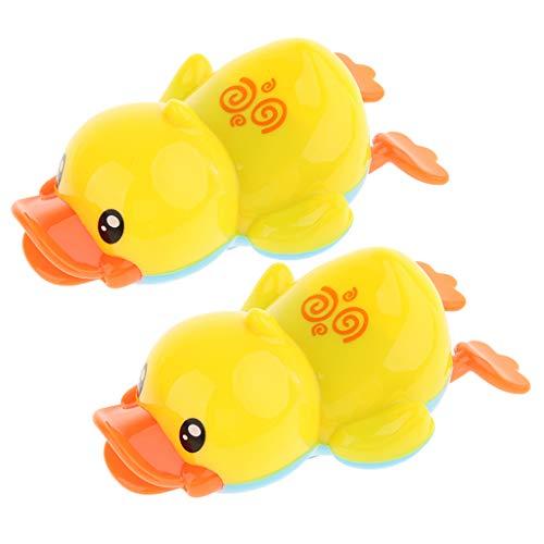 Homyl 2 Stücke Schwimmen Enten Badewannenspielzeug, Mechanisches Schiff Wasserspielzeug für Kinder