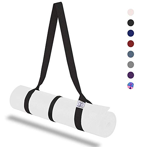 YOGAER Yoga Mat Carrier Strap, Adjustable Mat Straps Sling Carrying, Doubles Holder as Yoga Strap for Stretching, Bonus Set with Fix Holder Tie (Yoga Mat not Included)