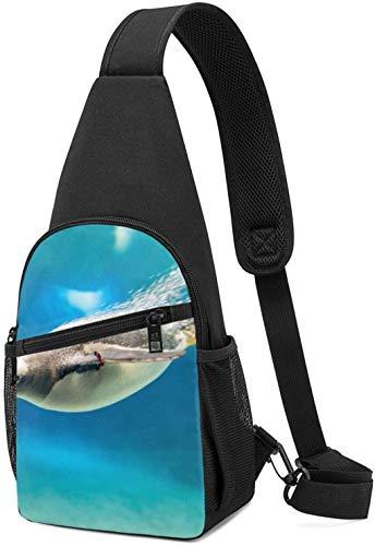 Nigel Tomm Sling Bag Natación Pingüino Impreso Hombro Mochila Crossbody Monedero Viaje Senderismo Bolsa De Pecho Mochila