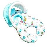 huyiko Aufblasbares Baby Pool Schwimmsitz Boot Interaktiv Pool Ring Auxiliaire mit Regenschirm Pool aufblasbar Strand Party für Baby