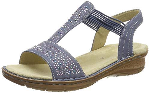 ARA Damen Hawaii 1237205 T-Spangen Sandalen, Blau (Jeans 75), 42 EU