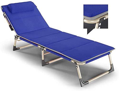 PAKUES-QO Sillón reclinable Plegable Tumbonas portátiles de Metal Tumbonas Hogar Oficina Jardín Patio Playa Camping Sillas de Gravedad Cero-Rojo (Color: Gris)