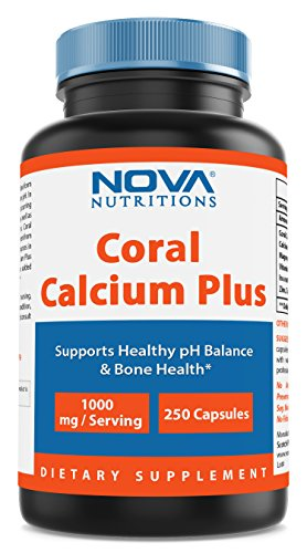 Nova Nutritions Coral Calcium Plus 1000 mg 250 Capsules