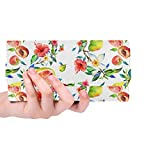 Unique Custom Summer Fruit Grapefruit Green Leaf Women Trifold Wallet Long Purse Credit Card Holder Case Handbag