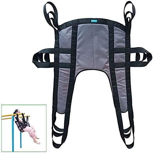 KUYT Patienten Lifter Sling Geteiltem Bein Sling Stiege Transfer Gürtel Toileting Commode Sling 6 Point Ganzkörper Sling Maximale Belastung 507 lb