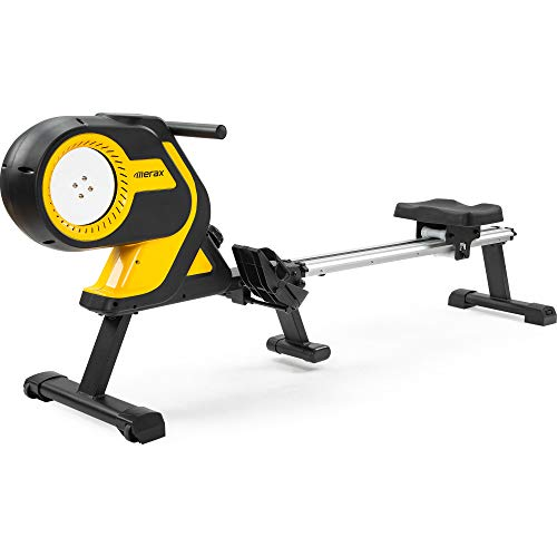 Merax Magnetic Folding Rowing Machine Indoor Rower Machine with 46 Inch Slide Rail, Max 330LB Home Cardio