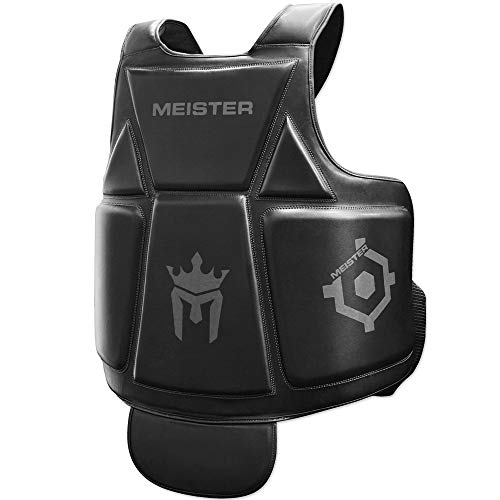 Meister Body Armor – MMA & Boxing Chest Guard w/Groin Protector – Black – Adult Large