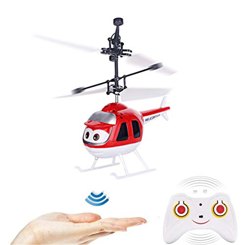Oulian Mini Helicóptero del Vuelo de RC, Drone Helicóptero Flying Toys con Luces LED, Mano Suspensión RC Avión Helicóptero de Juguete de Infrarrojos de Detección de Inducción Flying Drone para