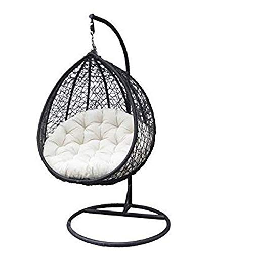 Carry Bird Swing Chair with Stand,Cushion & Hook/Color-Black for 1Outdoor/Indoor/Balcony/Garden/Patio