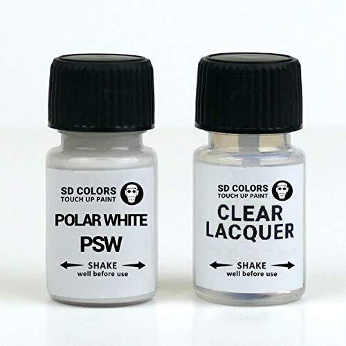 SD COLORS - Vernice per ritocchi PSW, colore bianco polare, 8 ml, per riparazione graffi