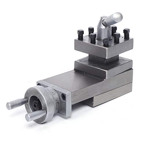 Lathe Tool Holder Post, WM180V Stroke 90MM Cast Iron Swing Lathe Tool Center Height 47MM Groove Height 16MM Slide Compound Lathe Parts Swing Bench Lathe Part, Lathe Tool Holder for Lathe Parts
