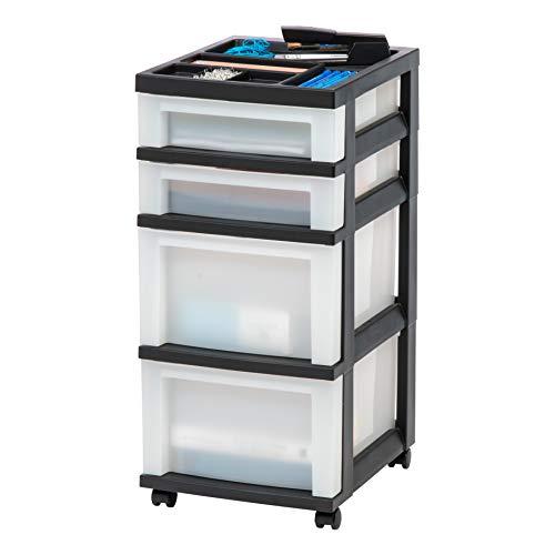 IRIS USA, Inc. MC-322-TOP 4-Drawer Storage Cart