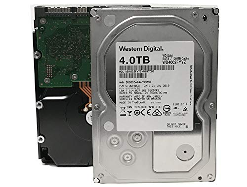 WD Gold 4TB Enterprise Class Hard Disk Drive - 7200 RPM Class SATA 6 Gb/s 128MB Cache 3.5 Inch - WD4002FYYZ (Certified Refurbished)