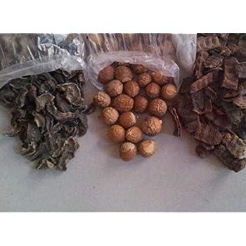 Forest Herbs Organic Premium Quality Whole Dried Amla, Reetha, Shikakai Raw Form for Hair Care Each 100Gms