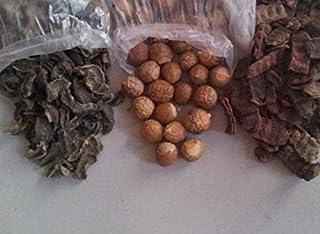 The Forest Herbs Organic Whole Dried Amla, Reetha, Shikakai Raw Form for Hair Care Each 100Gms