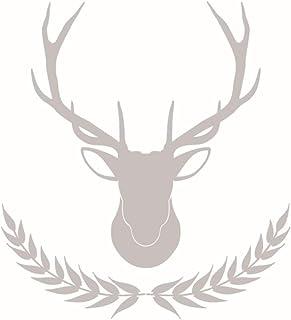 LSDAEER Maisui Elk Etiqueta De La Pared Dormitorio Sala De Estar Fondo De La Pared Decoración Etiqueta Extraíble Pintura Autoadhesiva Gris Claro Pared Papel