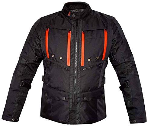 Warrior Gears® - Chaqueta de motocicleta para hombre, Maxtex GL Cordura textil para motocicleta, con rejillas de ventilación | blindado CE | Impermeable | Chaquetas resistentes al viento